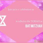 Luxury Bat Mitzvah Invitation Card