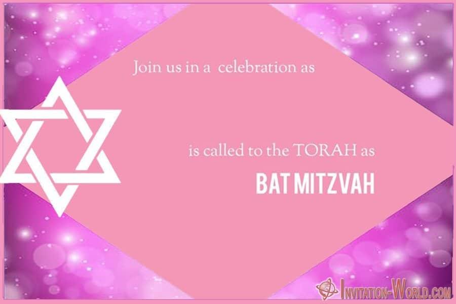 Luxury Bat Mitzvah Invitation Card - 8+ Bat Mitzvah Free Invitation Templates