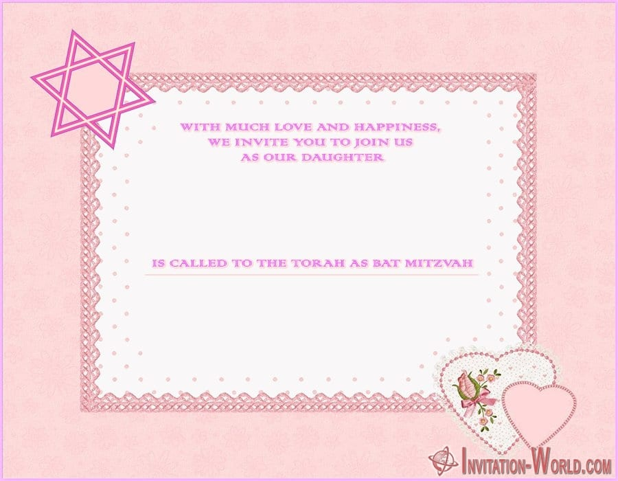 Modern Bat Mitzvah Invitation Template - 8+ Bat Mitzvah Free Invitation Templates