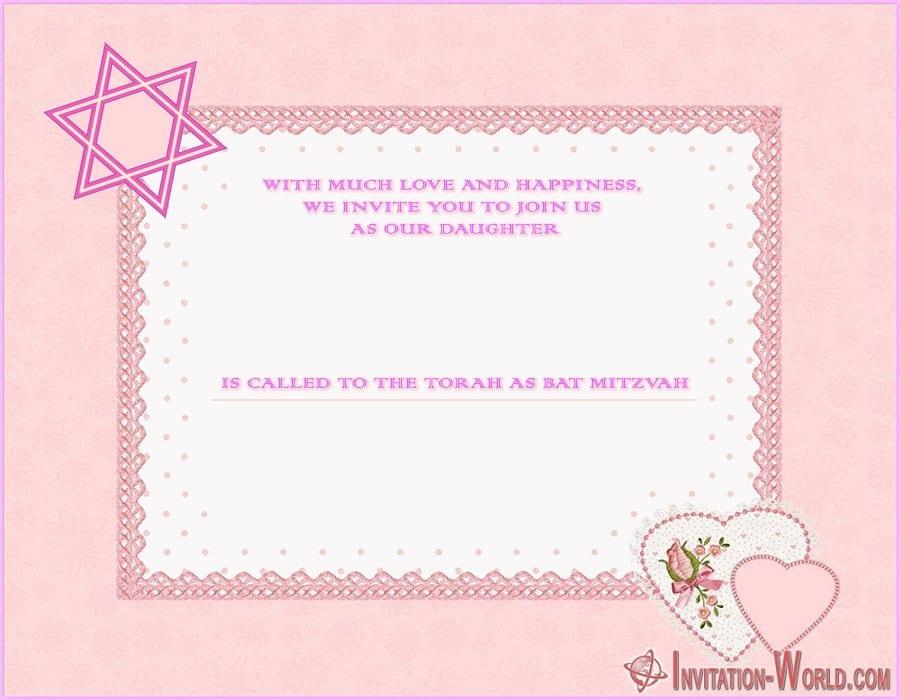 Modern Bat Mitzvah Invitation Template - Modern Bat Mitzvah Invitation Template