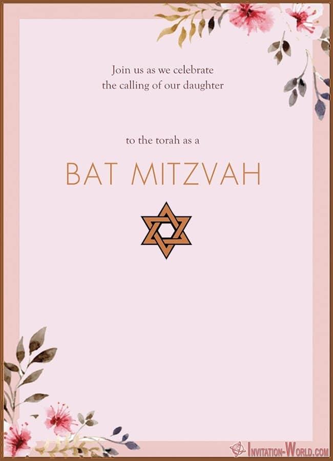Modern Bat Mitzvah Invitation - 8+ Bat Mitzvah Free Invitation Templates