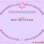Purple Bat Mitzvah invitation Design