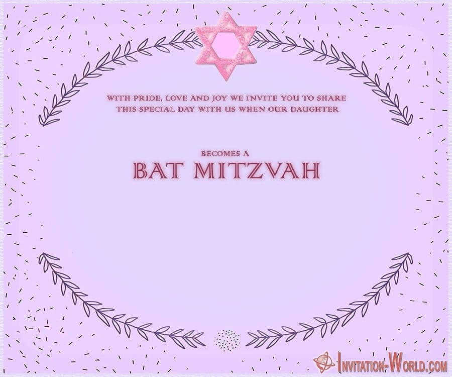 Purple Bat Mitzvah invitation Design - 8+ Bat Mitzvah Free Invitation Templates