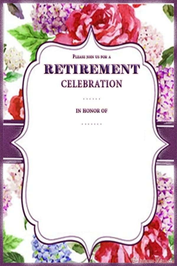 Retirement Invitation Card - Retirement Party Invitations