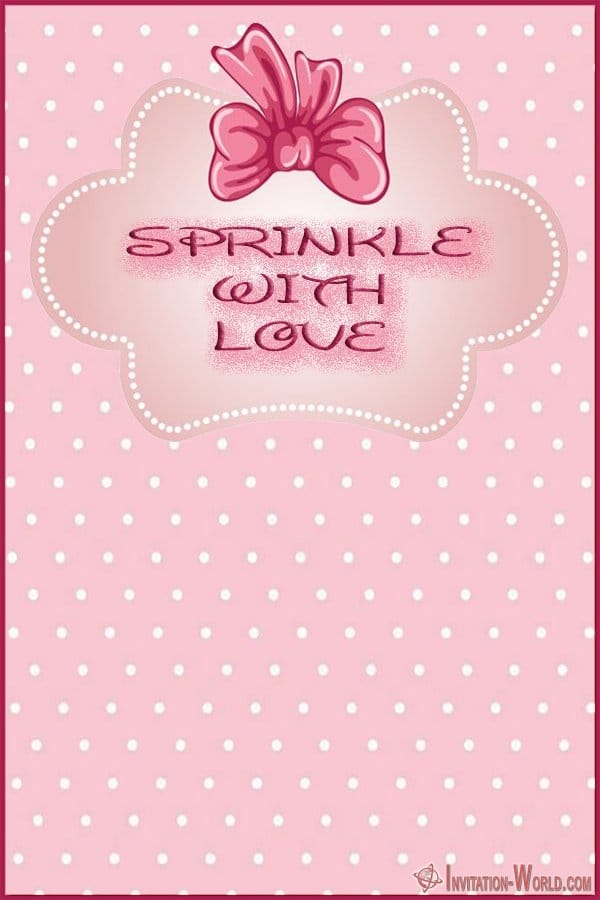 Sprinkle with love Invitation Card - 11+ Baby SPRINKLE Invitation Templates