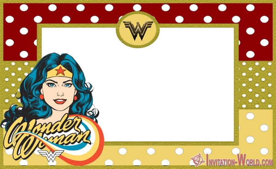 Wonder Woman Free Invitation Templates