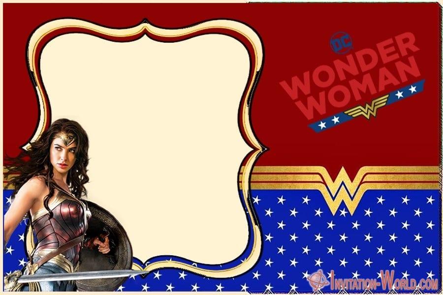 Wonder Woman Invitation Card - Wonder Woman Invitation Card