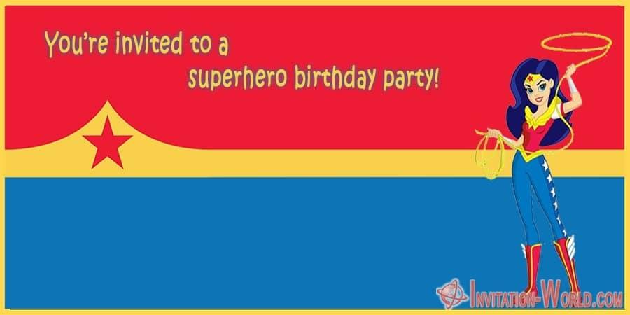 Wonder Woman Free Invitation Templates | Invitation World