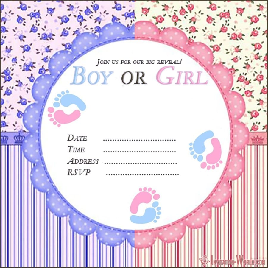 free gender reveal invitation template - Gender Reveal Invitation Templates