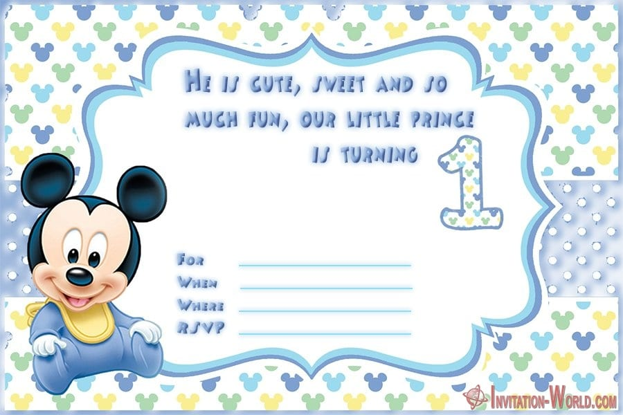 1st birthday invitation for boys - First Birthday Invitations for Boys and Girls
