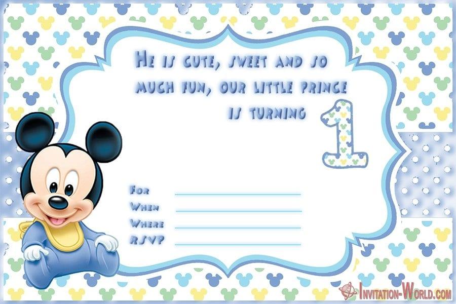 1st birthday invitation for boys - First Birthday Invitations for Boys and Girls