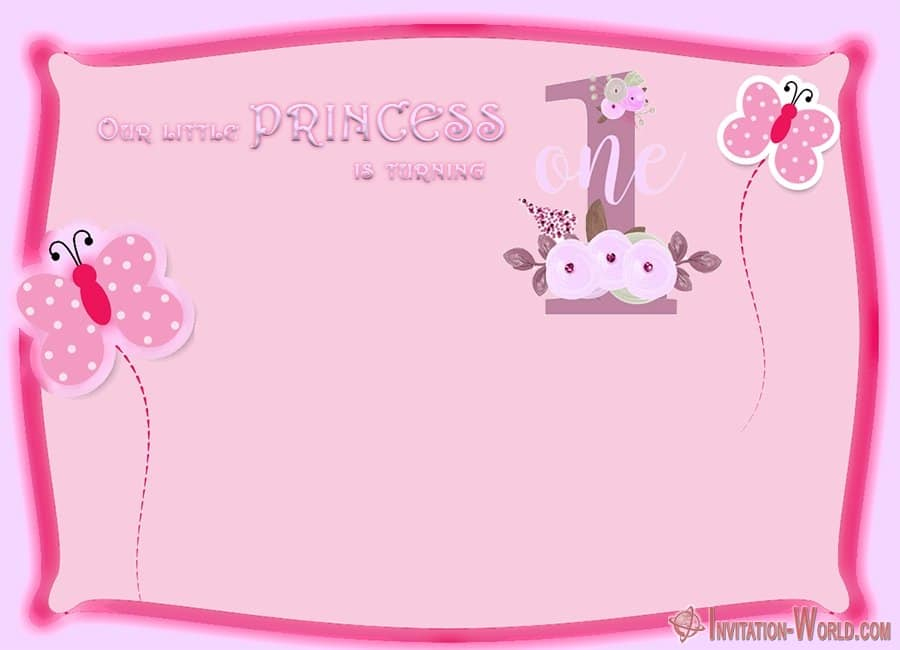 1st birthday invitation for girls - First Birthday Invitations for Boys and Girls