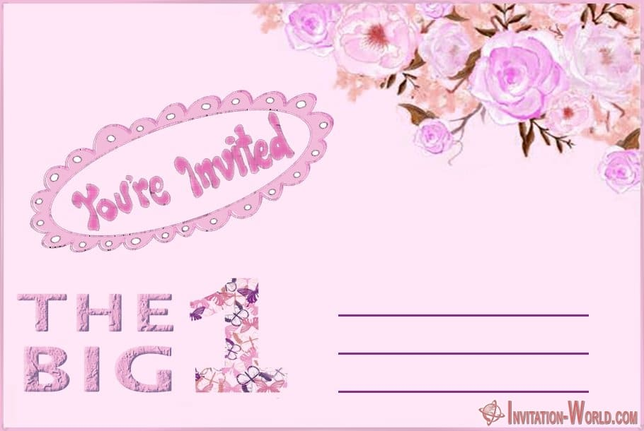 1st birthday invitation template blank - First Birthday Invitations for Boys and Girls