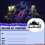 Blank Fortnite Invitation Card 150x150 - Fortnite Birthday Party invitation