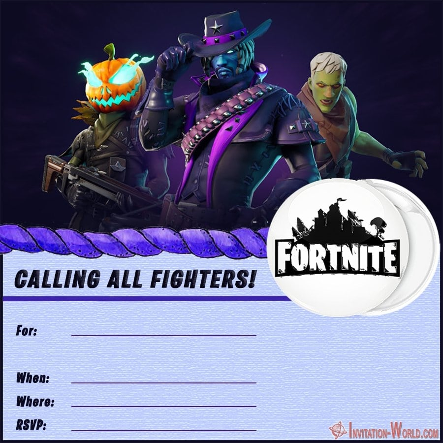 Blank Fortnite Invitation Card - 8 Fortnite Invitation Templates for Epic Party