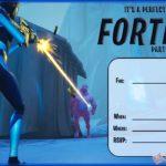 Fortnite Invitation Card Template 150x150 - Fortnite Birthday Party invitation