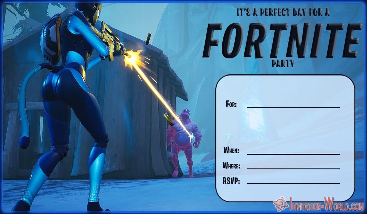 Fortnite Invitation Card Template 1200x700 - 8 Fortnite Invitation Templates for Epic Party