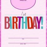 Free Printable First Birthday Initation Template