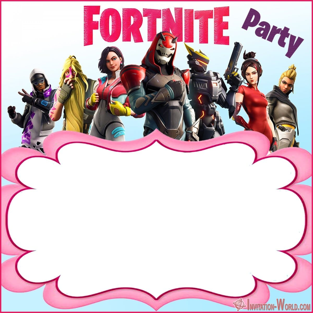 Free Printable Fortnite template - 8 Fortnite Invitation Templates for Epic Party