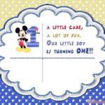 Mickey Mouse 1st Birthday Party Invitation 150x150 - Minnie Mouse First Birthday Invitation For Girls