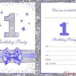 Printable First Birthday Party Invitation 150x150 - Minnie Mouse First Birthday Invitation For Girls