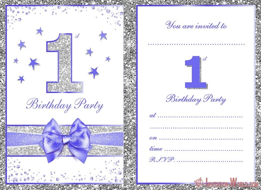 Printable First Birthday Party Invitation - First Birthday Invitations for Boys and Girls