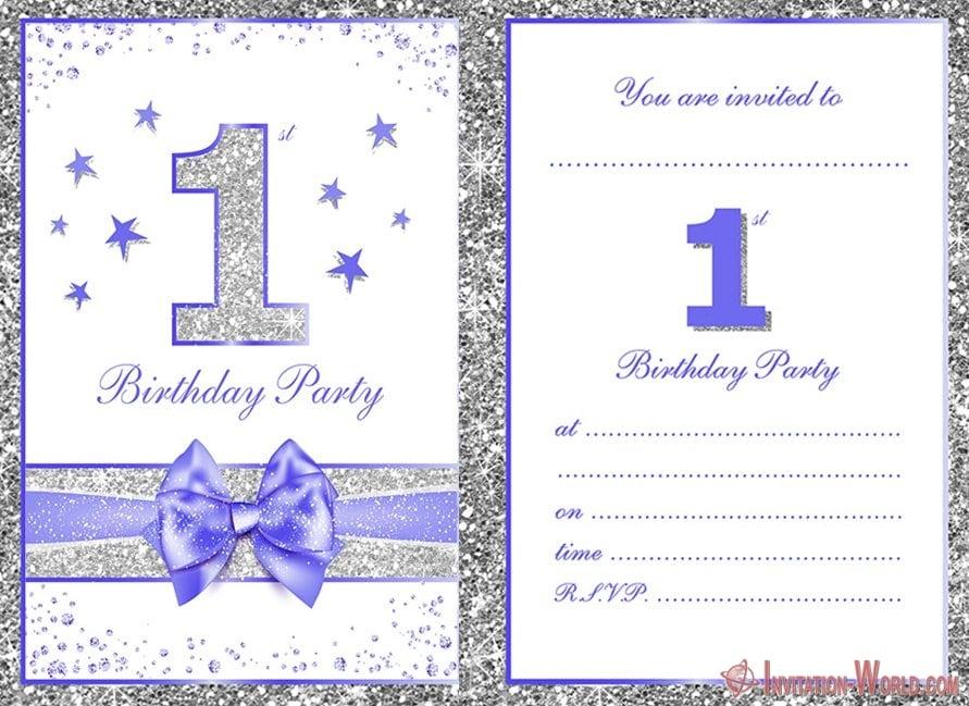 Printable First Birthday Party Invitation 300x219 - Printable First Birthday Party Invitation