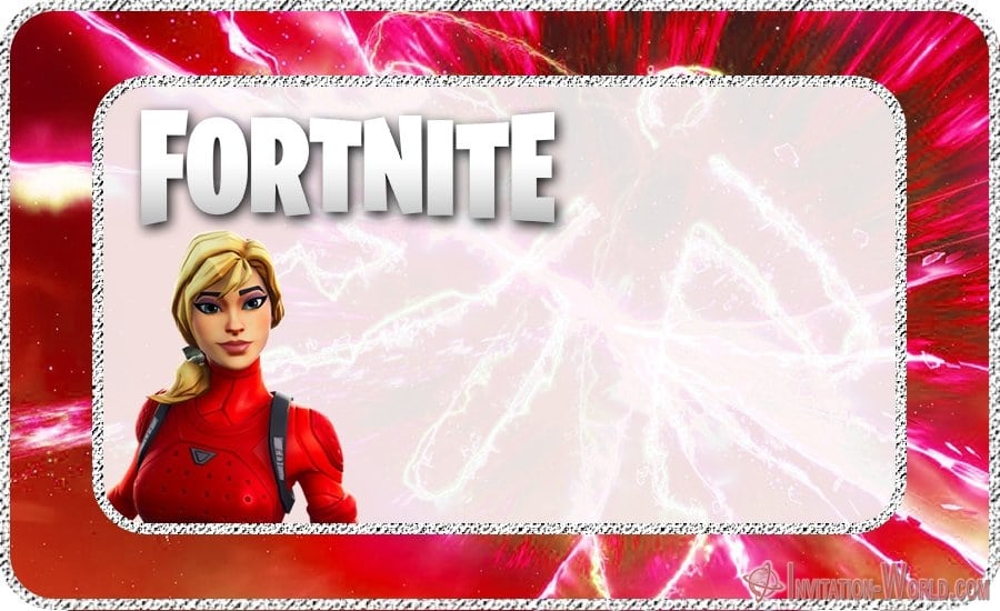 Printable Fortnite Template Free - 8 Fortnite Invitation Templates for Epic Party