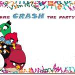 Angry Birds Birthday Invitation 150x150 - Angry Birds Invitation Card Template