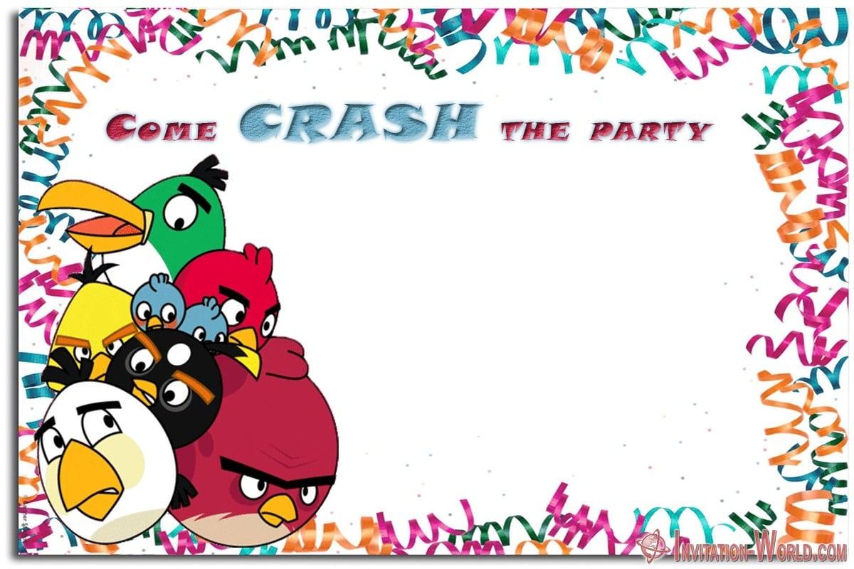 Angry Birds Birthday Invitation - Angry Birds Birthday Invitation