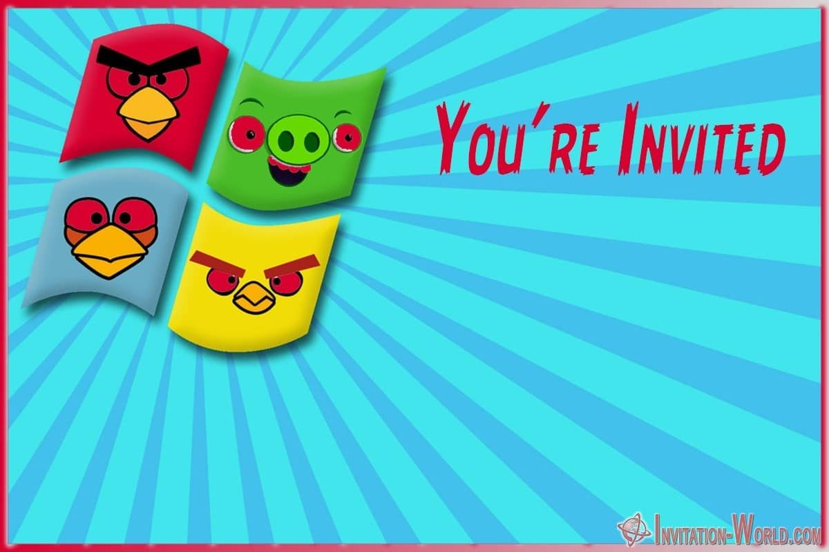 Angry Birds Invitation Card 1200x800 - 8+ Free Angry Birds Invitation Templates