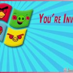 Angry Birds Invitation Card