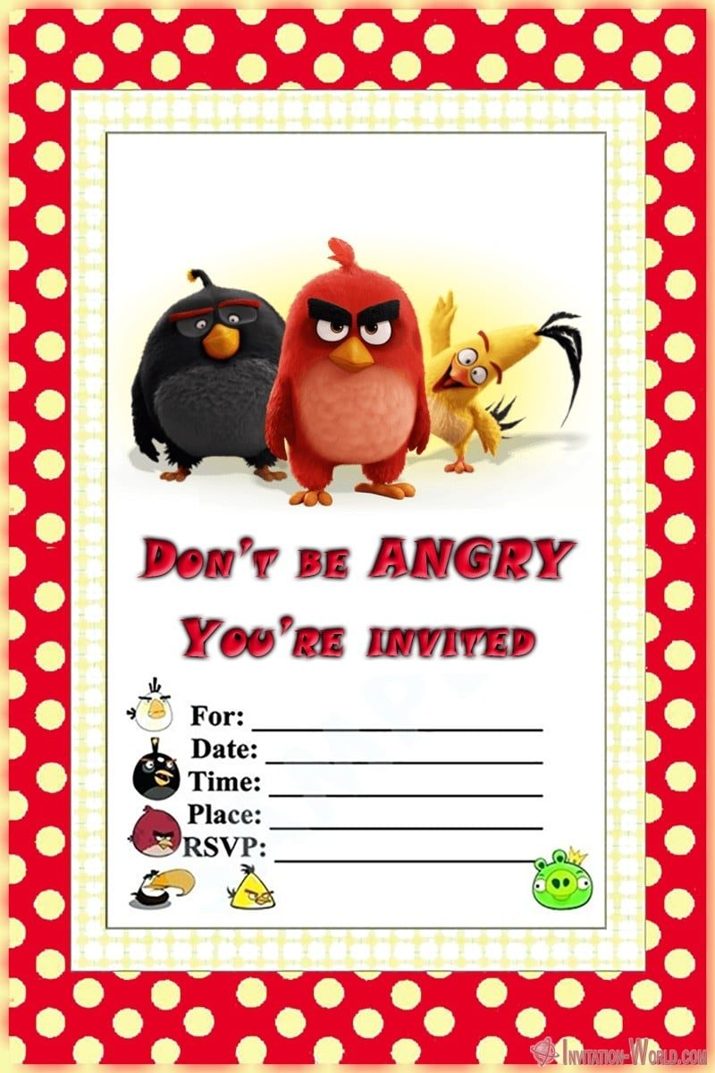 Angry Birds Party Invitation 800x1200 - 8+ Free Angry Birds Invitation Templates