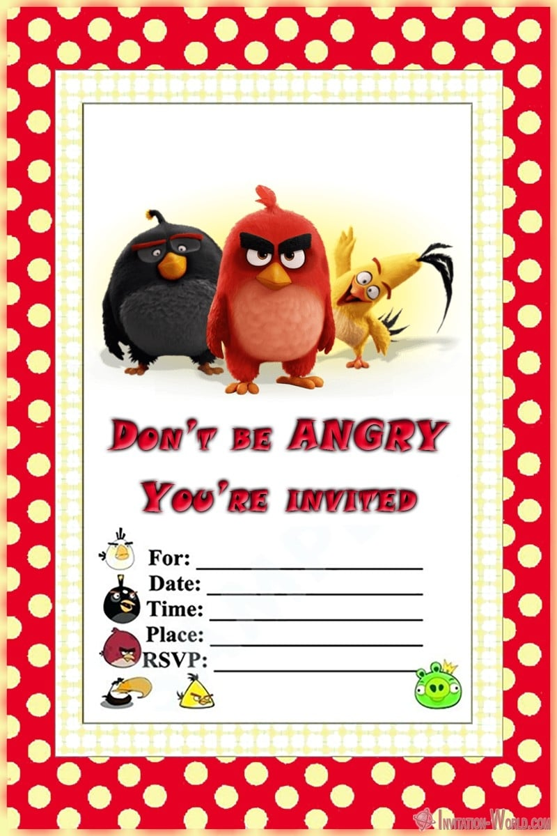 Angry Birds Party Invitation - Angry Birds Party Invitation