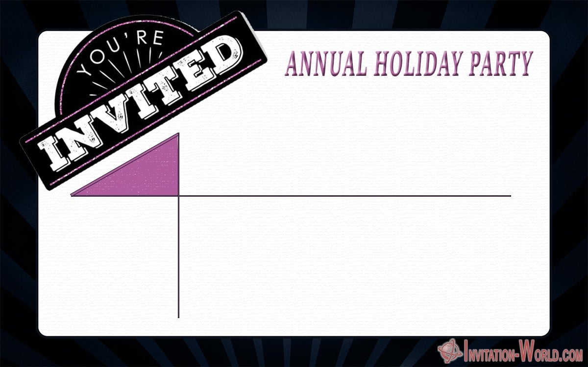 Annual Holiday Party Invitation - Annual Holiday Party Invitation