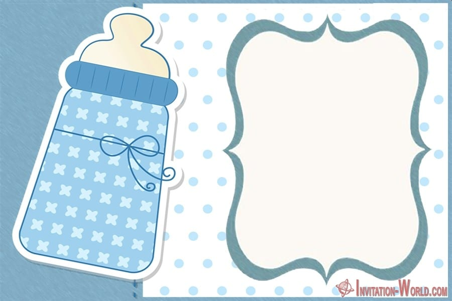 Baby Shower Blank Invitation - 9+ Custom Baby Shower Invitations for Boys