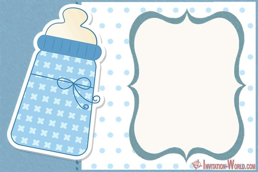 Baby Shower Blank Invitation - 9+ Custom Baby Shower Invitations for Boys