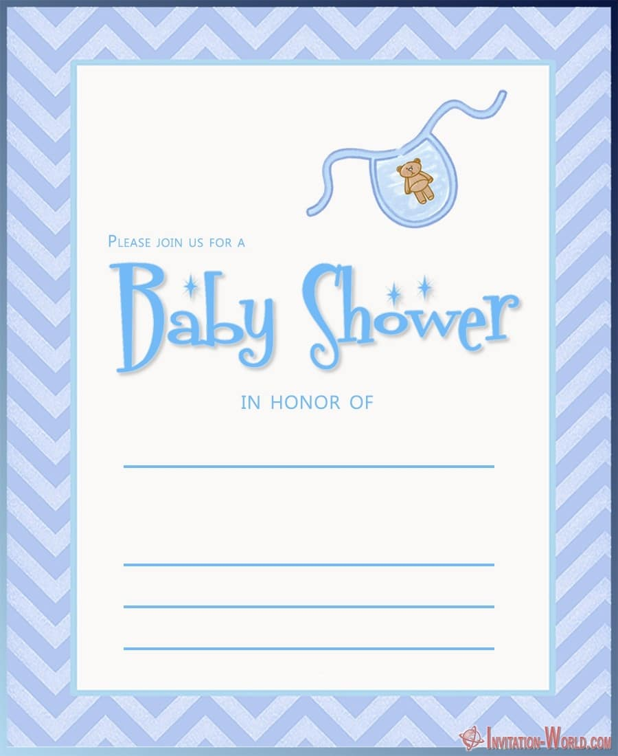 Baby Shower Invitation Card - 9+ Custom Baby Shower Invitations for Boys