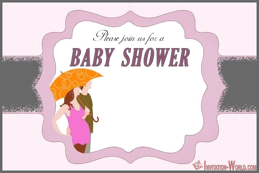 Baby Shower Invitation Template 1 - Couples Shower Invitation Cards