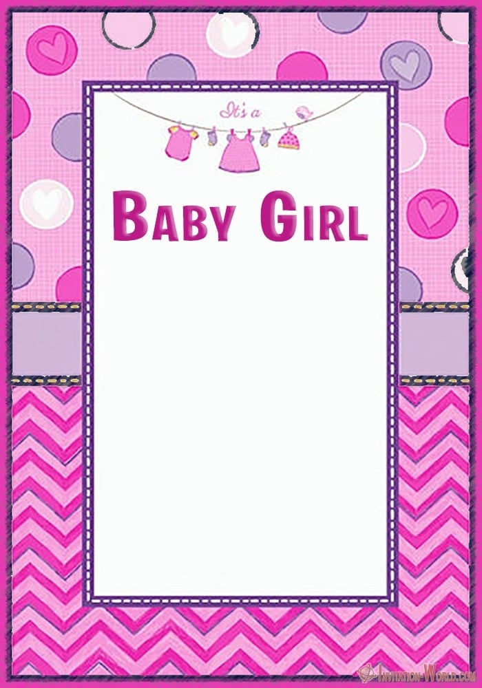 Baby Shower Invitation Template for Girls - Baby Shower Invitation Template for Girls
