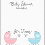 Baby Shower Invitation Template for Twins