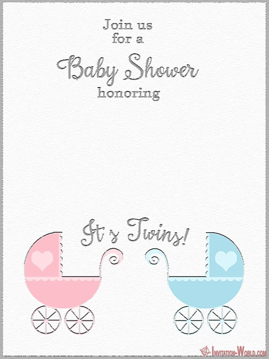 Baby Shower Invitation Template for Twins - Baby Shower Invitation Template for Twins