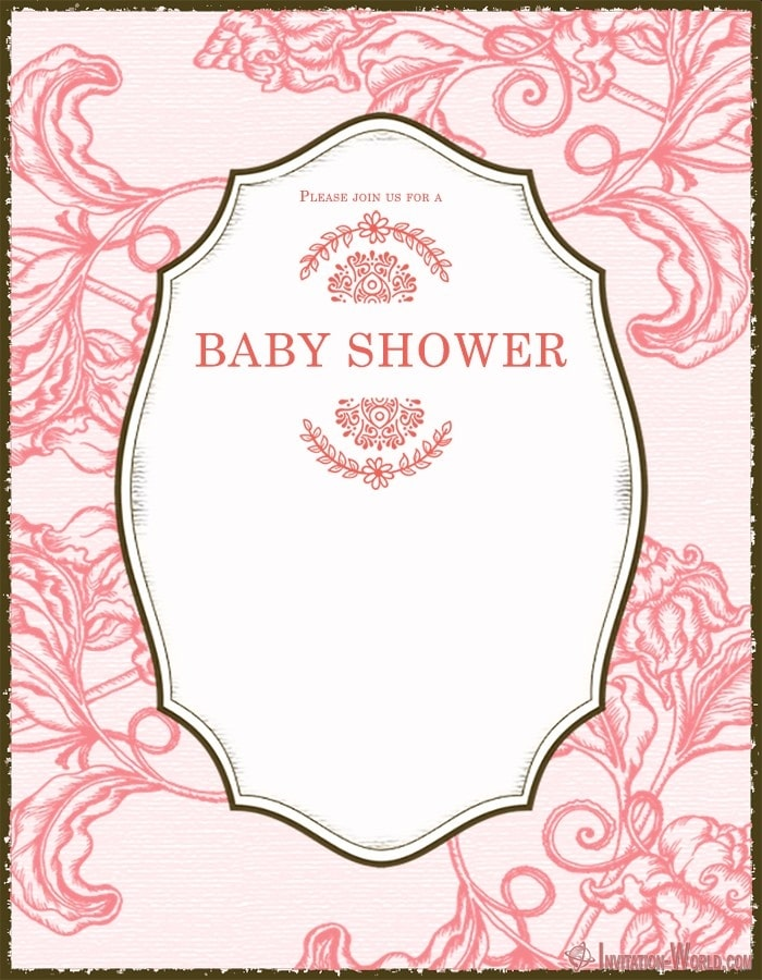 Baby Shower Invitation Template 150x150 - Cute Pink Baby Shower Invitation Card
