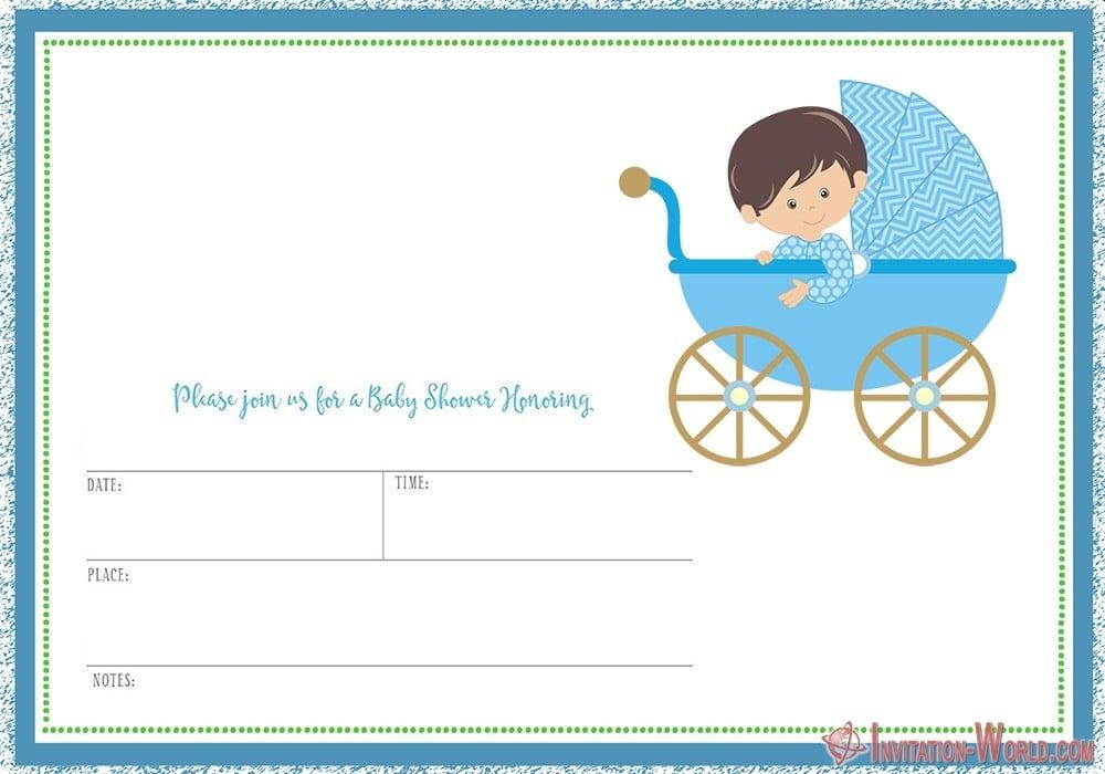 Baby Shower party Invitation - 9+ Custom Baby Shower Invitations for Boys