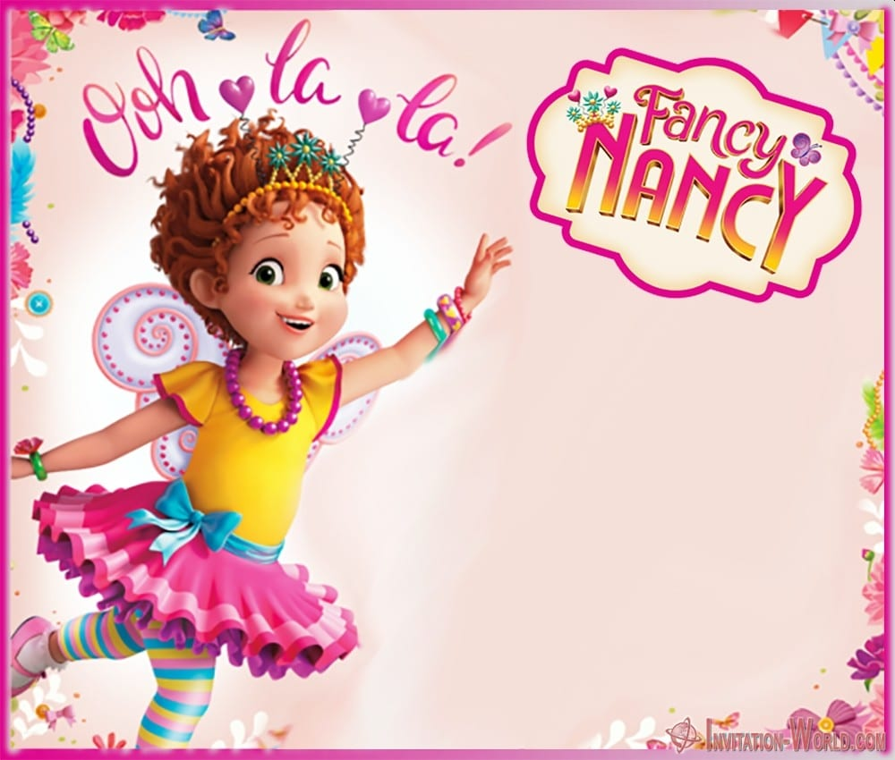 Blank Fancy Nancy invitation template - Download Fancy Nancy Invitation Templates