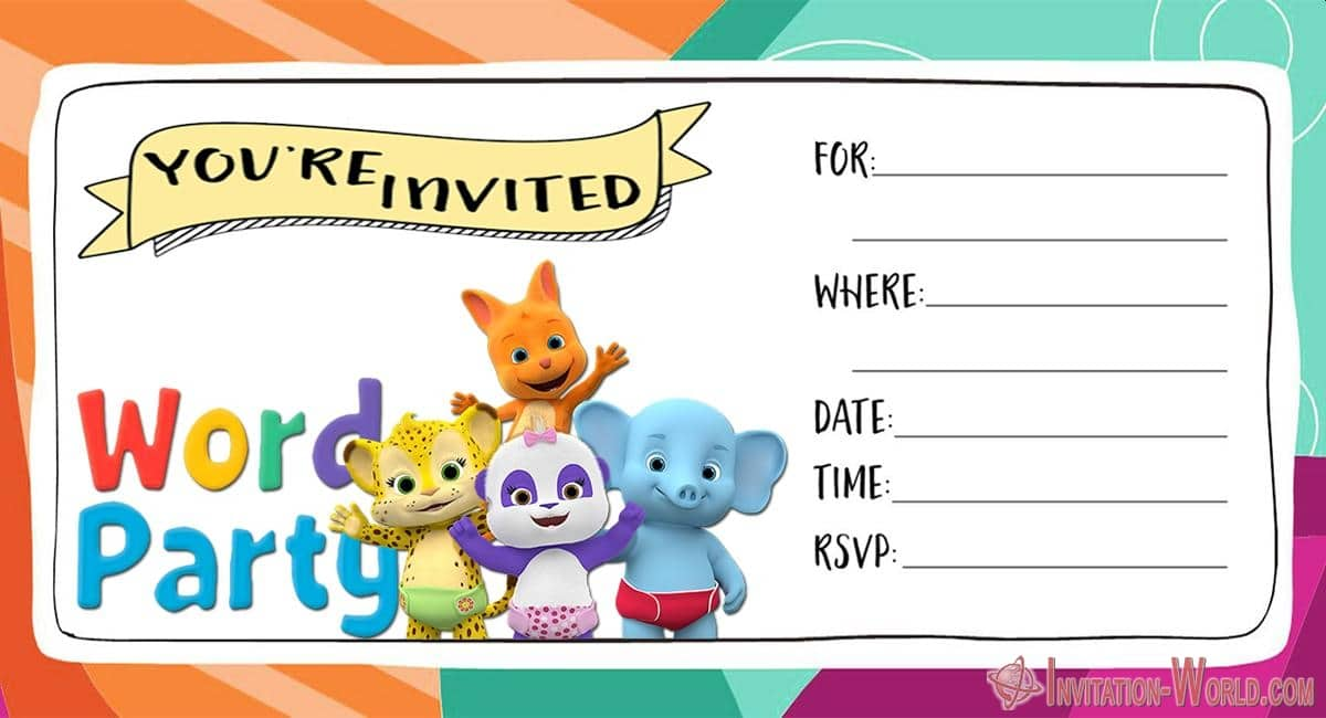 Blank Word Party Invitation Card 930x620 - Word Party Invitation Cards