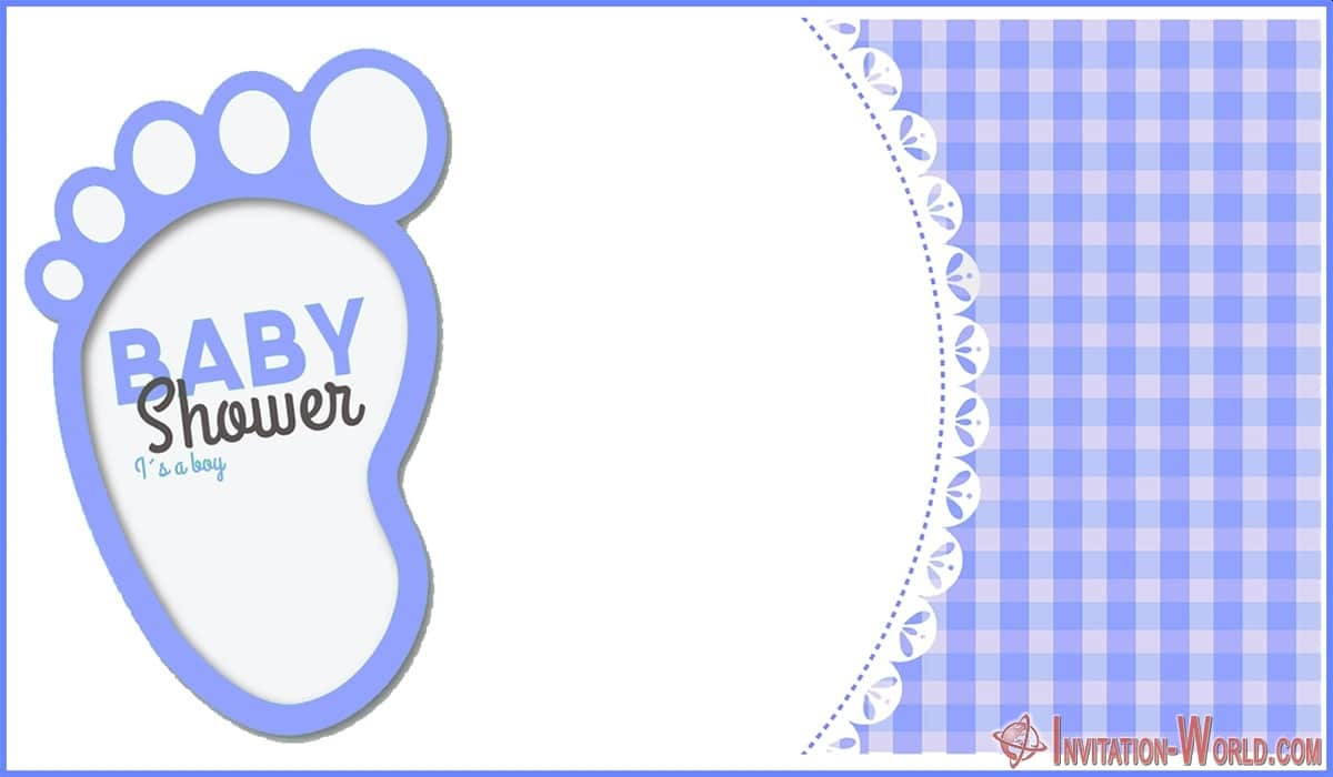 Boy Baby Shower Invitation Card - Boy Baby Shower Invitation Card