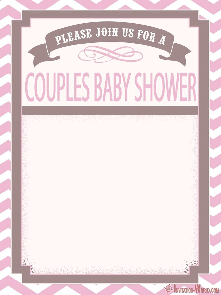 Couples Baby Shower Invitation - Couples Shower Invitation Cards