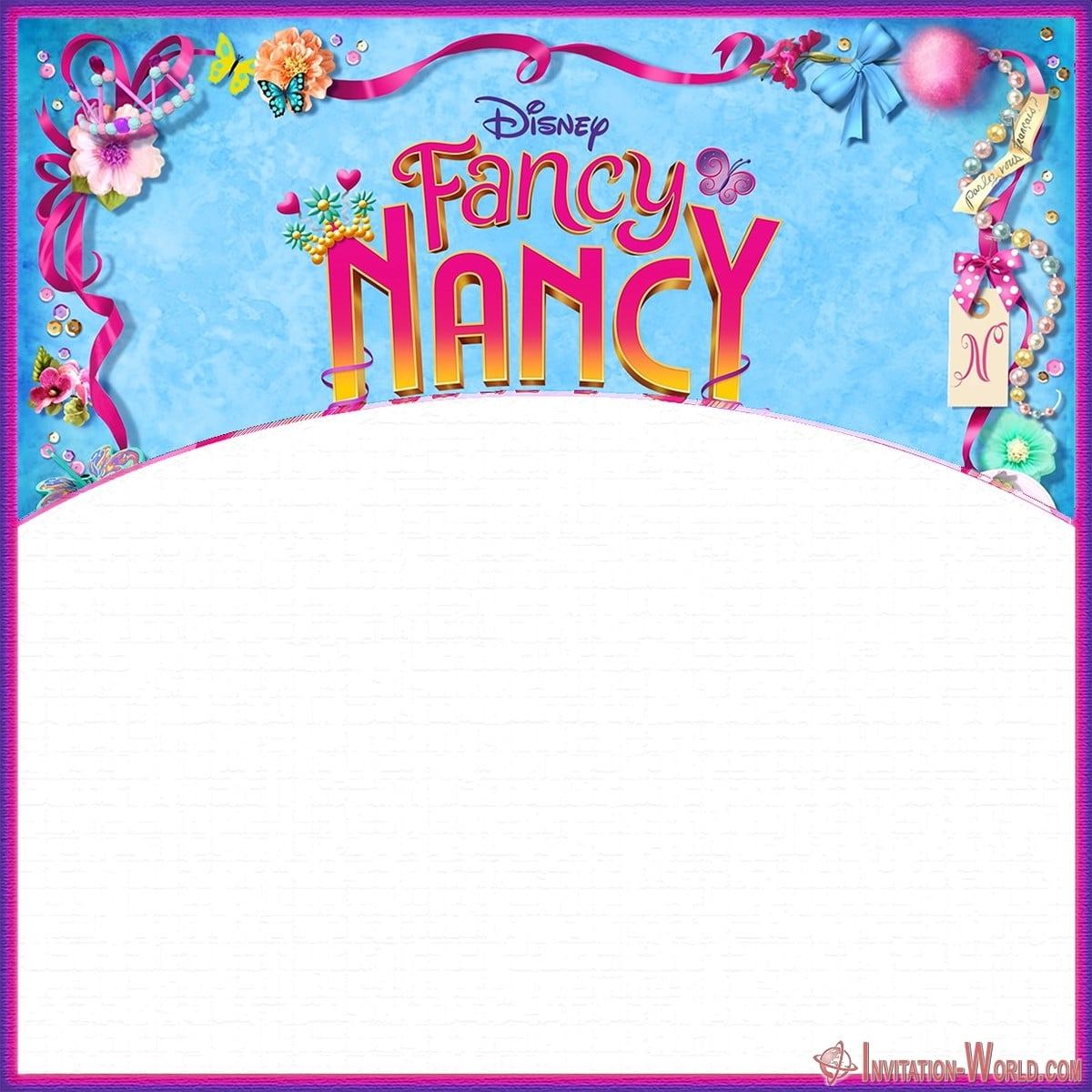 Custom Fancy Nancy invitation template - Download Fancy Nancy Invitation Templates