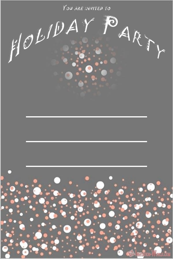 Custom Holiday Party Invitation - Holiday Party Invitations FREE Templates